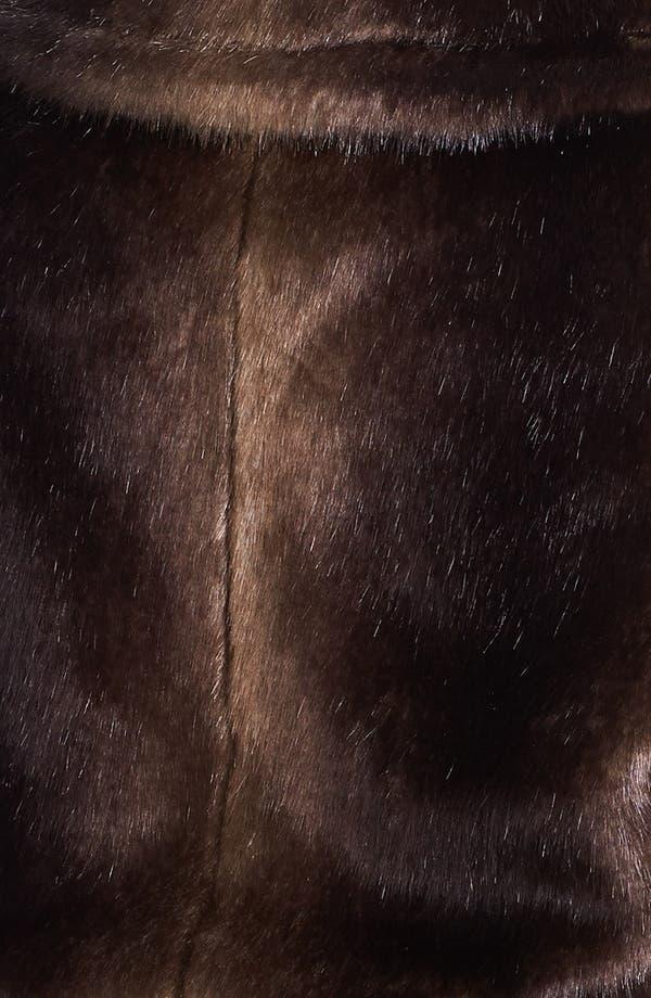 Alternate Image 3  - Ellen Tracy Faux Fur Anorak Vest (Plus Size)