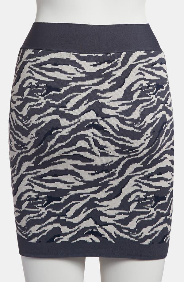 Alternate Image 2  - Leith 'Punked' Animal Print Miniskirt