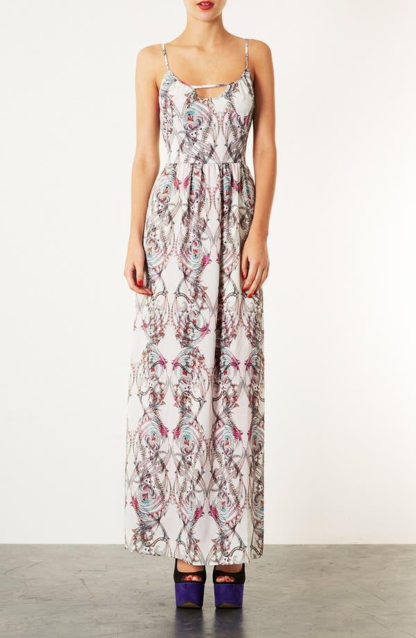 Alternate Image 1 Selected - Topshop 'Marker Paisley' Print Maxi Dress