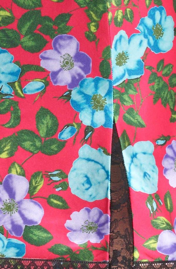 Alternate Image 4  - Nina Ricci Lace Detail Print Silk Skirt