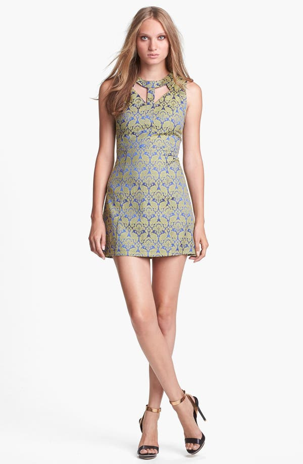 Alternate Image 1 Selected - ASTR Cutout Jacquard Minidress