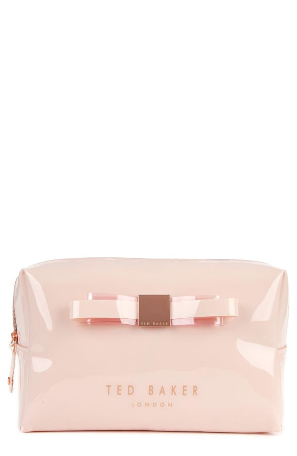Main Image - Ted Baker London 'Bow - Large' Cosmetics Case