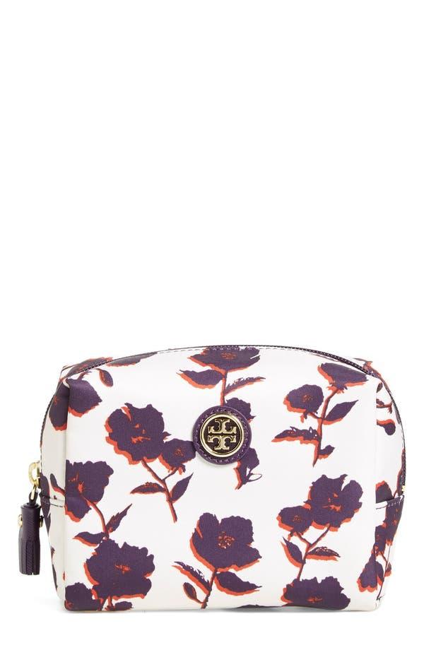 Main Image - Tory Burch 'Brigitte' Floral Print Cosmetics Case