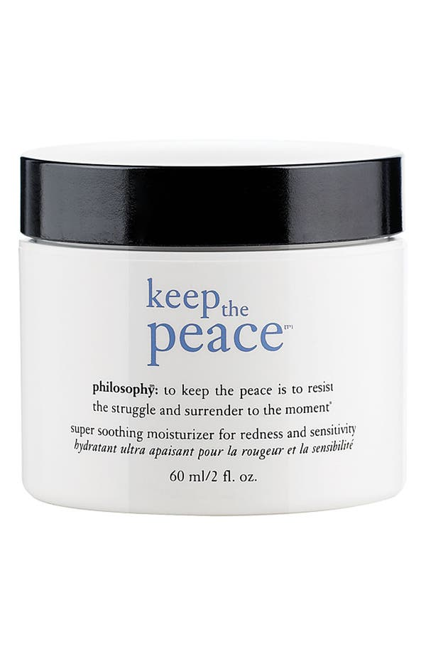 Main Image - philosophy 'keep the peace' super soothing moisturizer for redness and sensitivity