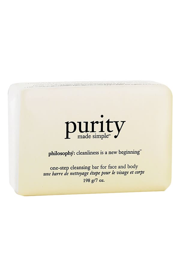 Main Image - philosophy 'purity made simple' one-step cleansing bar for face and body