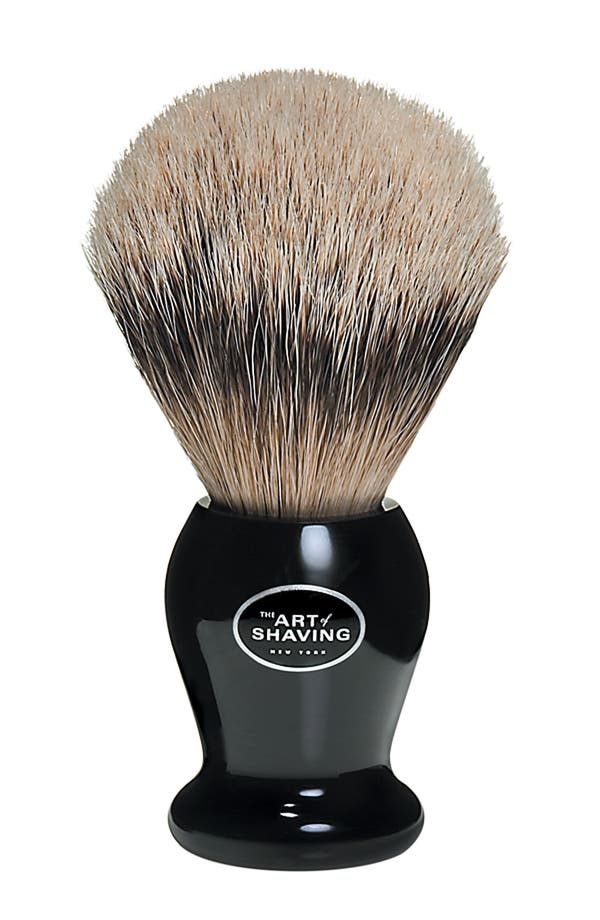 Alternate Image 1 Selected - The Art of Shaving® Badger Silvertip Shaving Brush - Black Handle