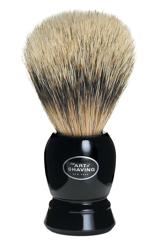 Alternate Image 1 Selected - The Art of Shaving® Fine Badger Shaving Brush - Black Handle