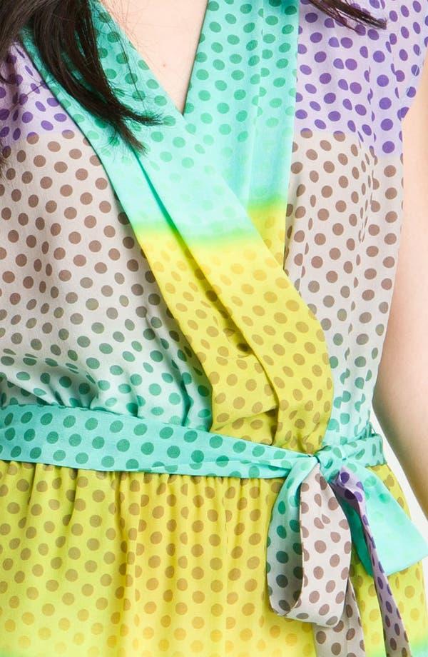 Alternate Image 3  - Presley Skye 'April' Surplice Dot Silk Dress