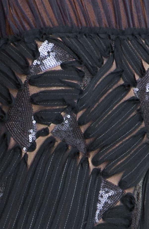 Alternate Image 3  - Tadashi Shoji Embroidered Illusion Yoke Chiffon Gown