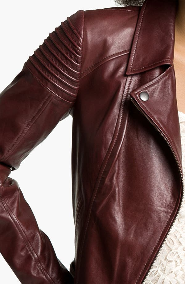 Alternate Image 3  - Trouvé Quilted Leather Biker Jacket