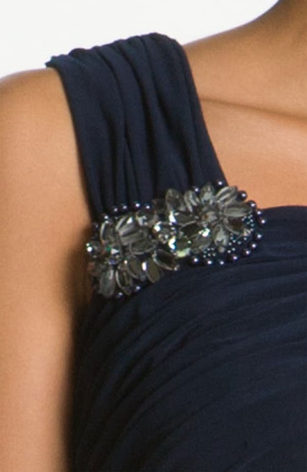 Alternate Image 3  - Adrianna Papell Crystal Brooch Ruched Jersey Gown