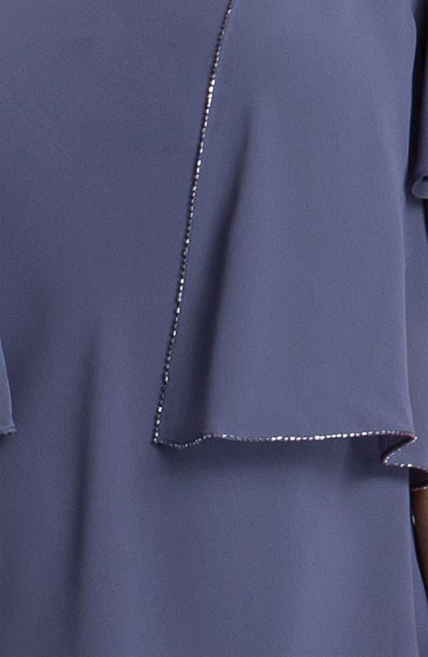 Alternate Image 3  - Alex Evenings Tiered Chiffon Dress & Jacket (Plus)