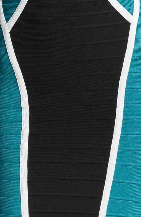 Alternate Image 3  - Herve Leger Colorblock Bandage Dress