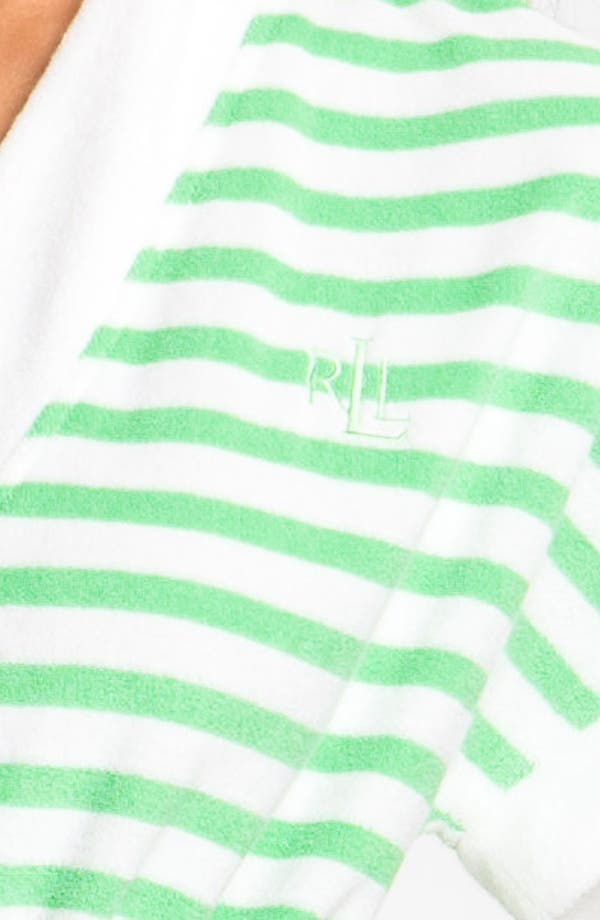 Alternate Image 3  - Lauren Ralph Lauren Sleepwear Stripe Spa Robe