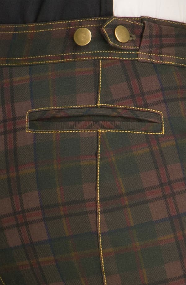 Alternate Image 3  - Derek Lam 10 Crosby Plaid Crop Moto Pants