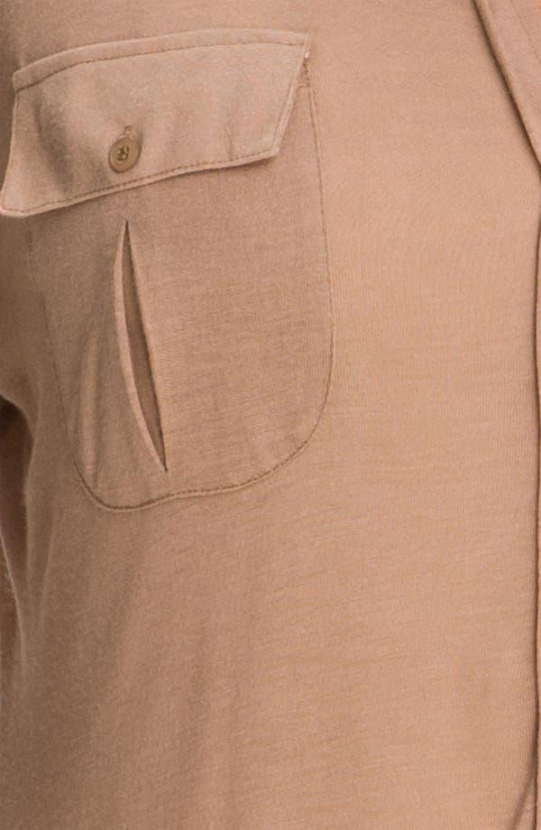 Alternate Image 3  - Press Tab Sleeve Shirt (Plus)
