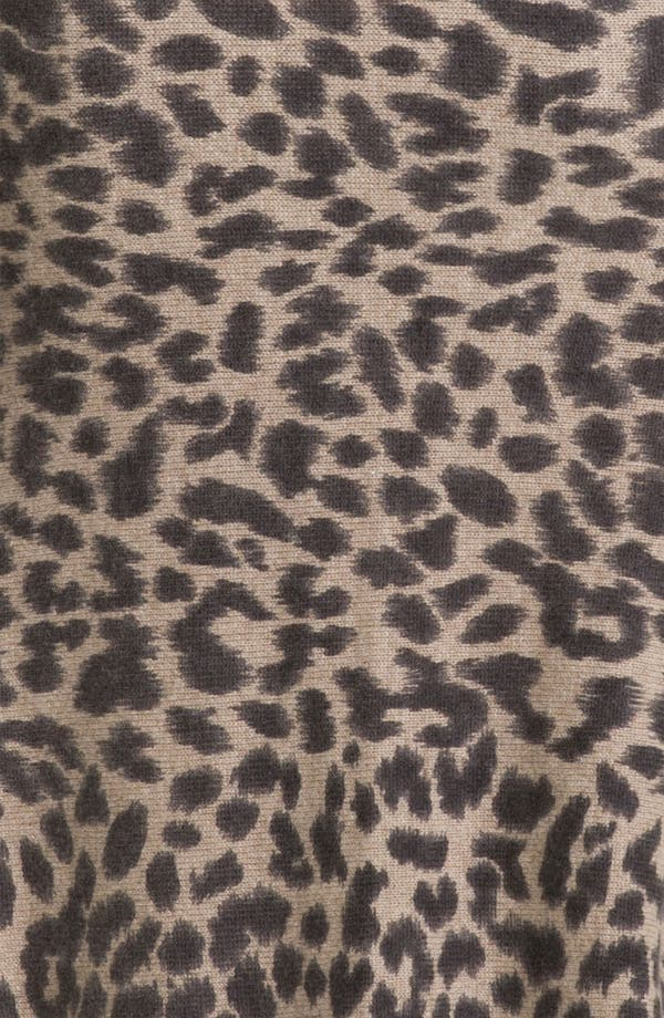 Alternate Image 3  - White + Warren Animal Print Cashmere Cardigan