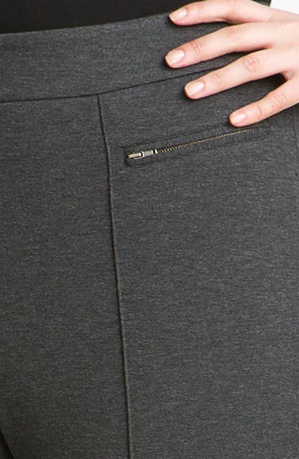 Alternate Image 3  - Sejour Double Zip Pocket Ponte Pants (Plus)