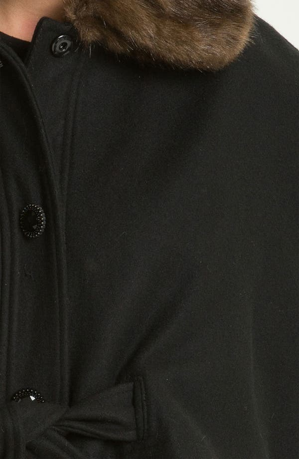 Alternate Image 3  - Betsey Johnson Faux Fur Collar Cape (Online Exclusive)