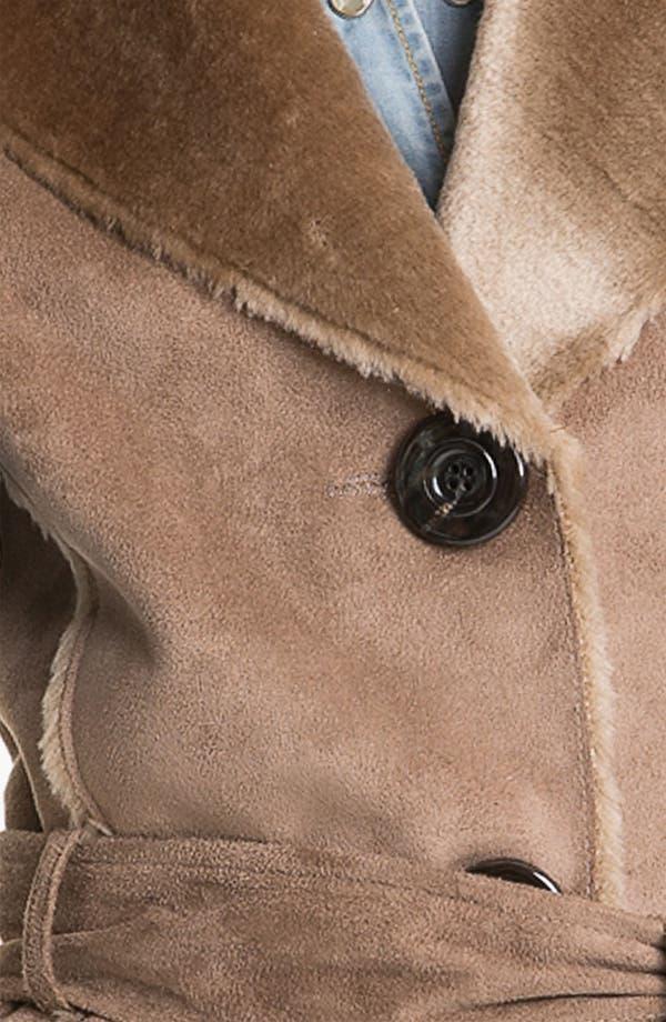 Alternate Image 3  - Ellen Tracy Faux Shearling Notch Collar Vest