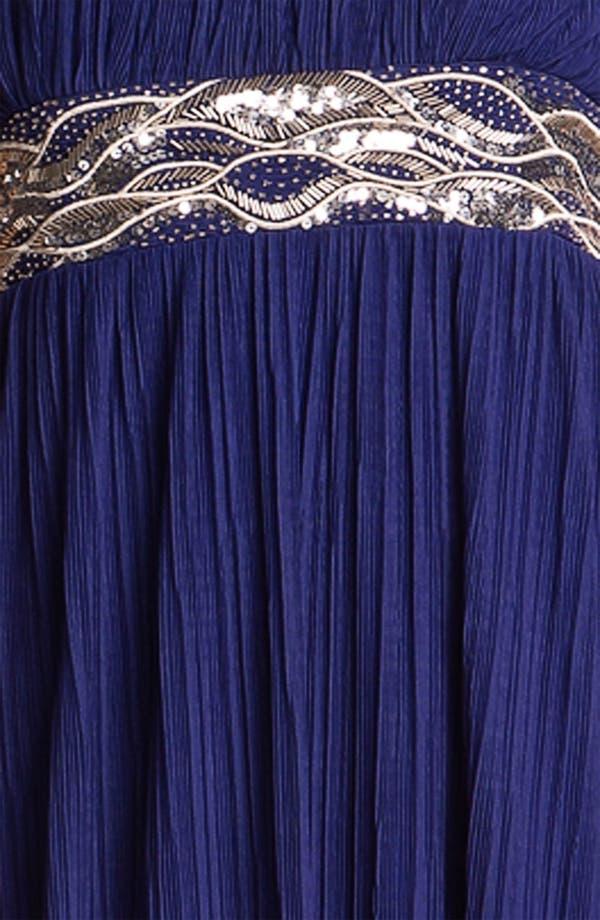 Alternate Image 3  - JS Boutique Embellished Waist Plissé Gown