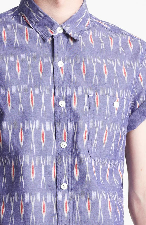 Alternate Image 3  - Topman 'High Roller' Ikat Pattern Shirt