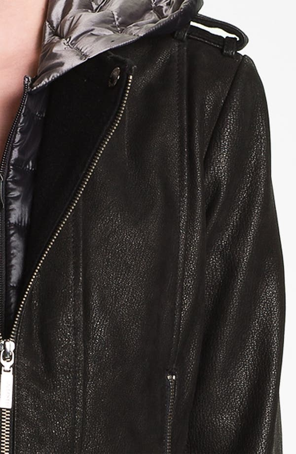 Alternate Image 3  - Bernardo Leather Jacket with Faux Vest Inset