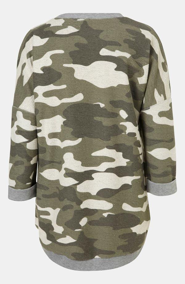Alternate Image 2  - Topshop Camouflage Sweatshirt