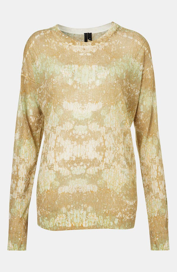 Main Image - Topshop Boutique Marble Camo Sweater