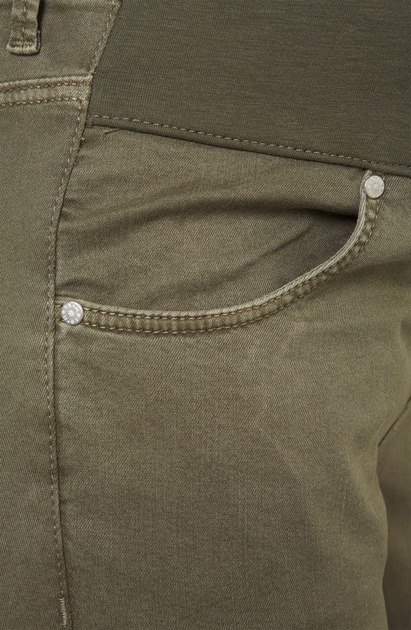 Alternate Image 4  - Topshop 'Leigh' Vintage Wash Skinny Maternity Jeans