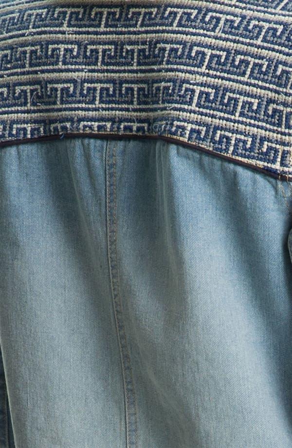 Alternate Image 3  - Free People Faux Shearling Lined Denim Coat