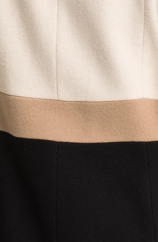 Alternate Image 3  - Fleurette Colorblock Wool Walking Coat (Petite)