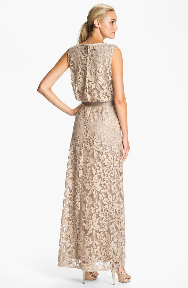 Alternate Image 2  - Tadashi Shoji Lace Overlay Blouson Gown