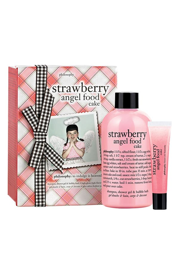 Main Image - philosophy 'strawberry angel food cake' duo (Nordstrom Exclusive)