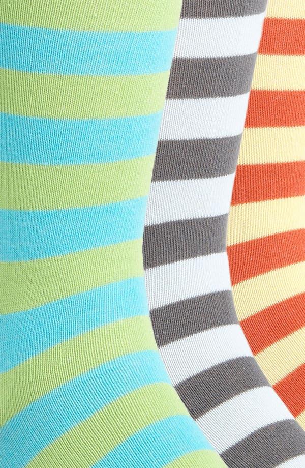 Alternate Image 2  - Topman Bright Stripe Socks (5-Pack)