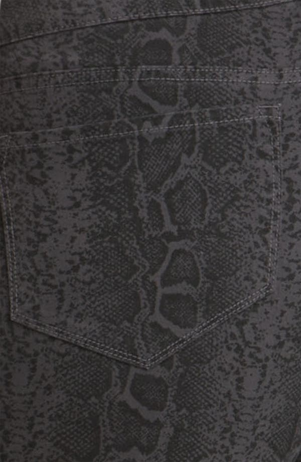 Alternate Image 3  - NYDJ 'Sheri' Python Print Skinny Twill Jeans (Plus)