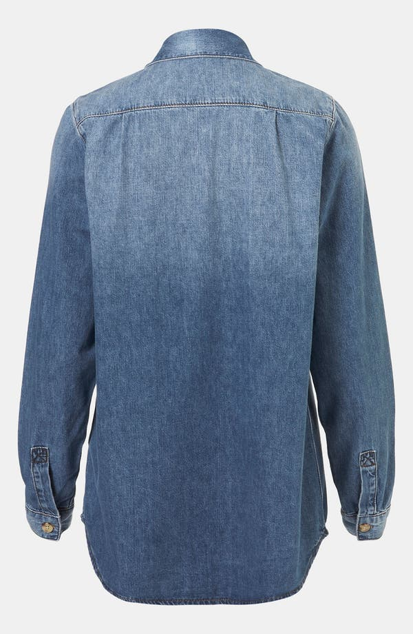 Alternate Image 2  - Topshop Vintage Oversized Denim Shirt