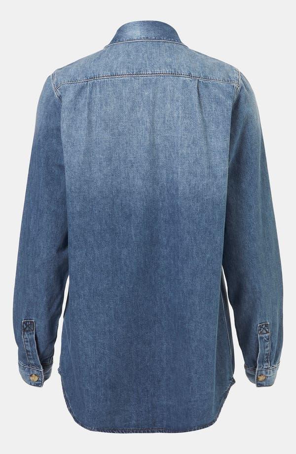 Alternate Image 2  - Topshop Vintage Oversized Denim Shirt