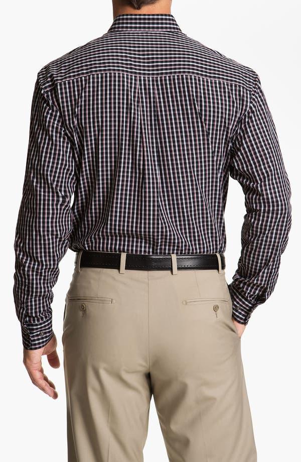 Alternate Image 2  - Cutter & Buck 'Elfin' Check Sport Shirt (Big & Tall)