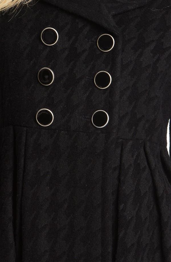 Alternate Image 3  - Betsey Johnson Houndstooth Walking Coat
