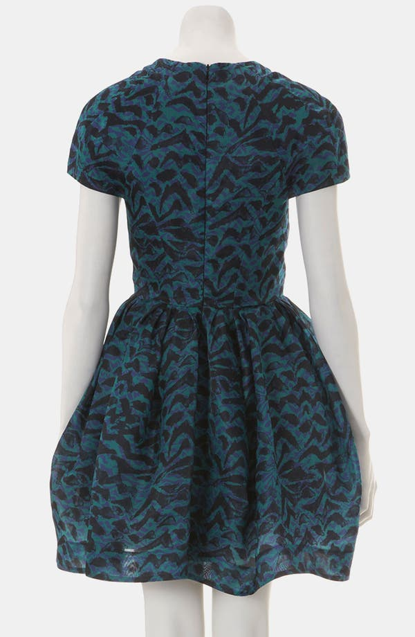 Alternate Image 2  - Topshop Abstract Print Silk Tulip Dress