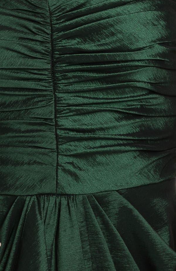 Alternate Image 3  - Aidan Mattox Strapless Drape Detail Taffeta Tulip Dress