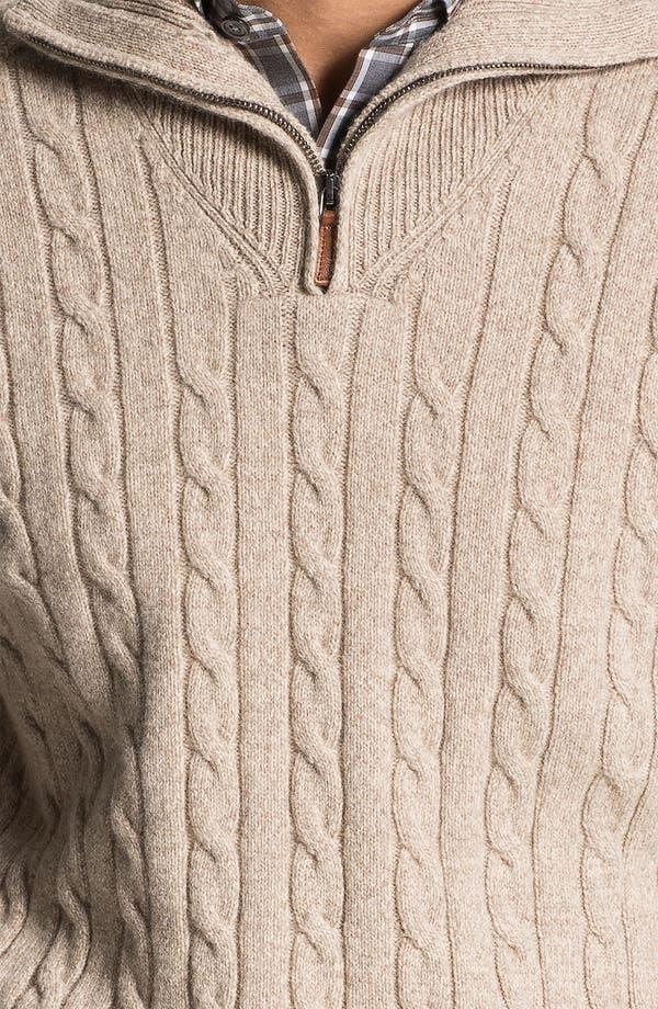 Alternate Image 3  - Lora Gi Half Zip Wool & Cashmere Sweater