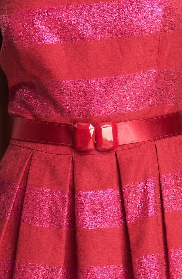 Alternate Image 3  - Trina Turk 'Domino' Metallic Stripe Jacquard Fit & Flare Dress