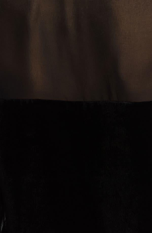 Alternate Image 4  - Hinge® Chiffon & Velvet Mixed Media Shirt