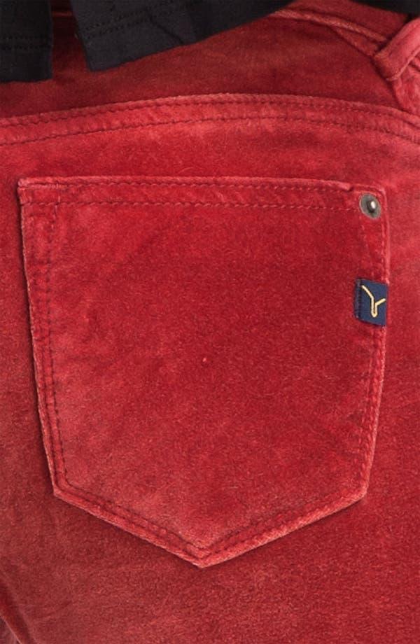 Alternate Image 3  - Vigoss Color Skinny Velvet Pants (Juniors)