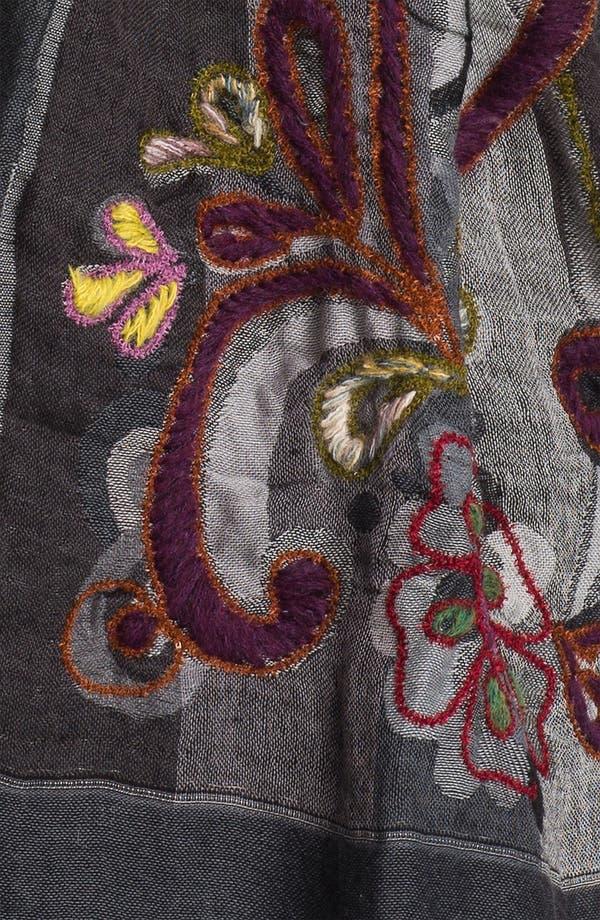 Alternate Image 2  - Eyeful Embroidered Scarf