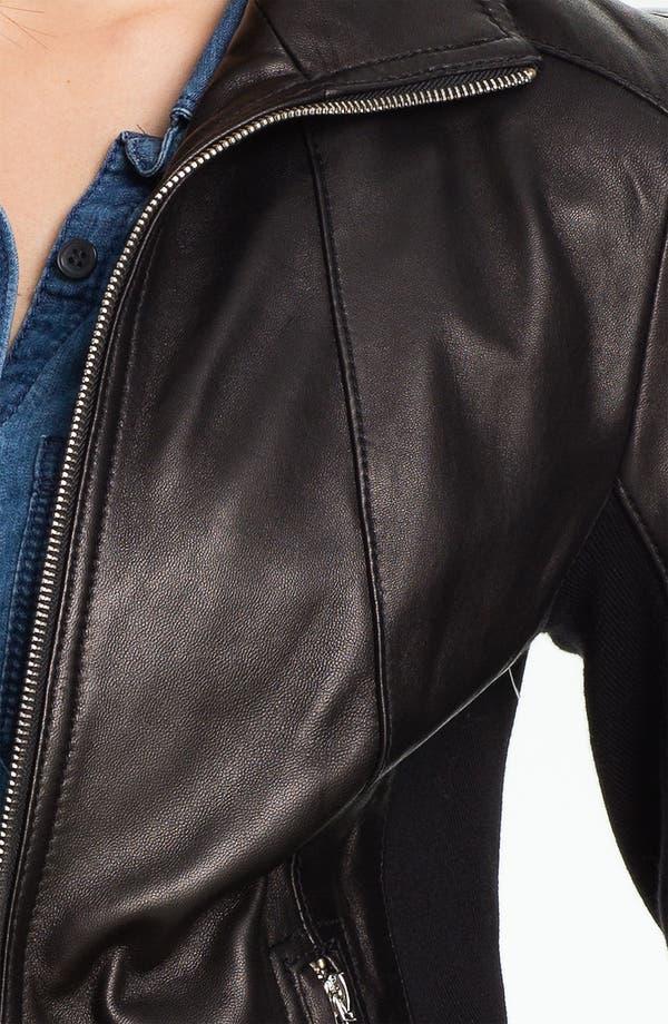 Alternate Image 3  - Calvin Klein Leather Scuba Jacket
