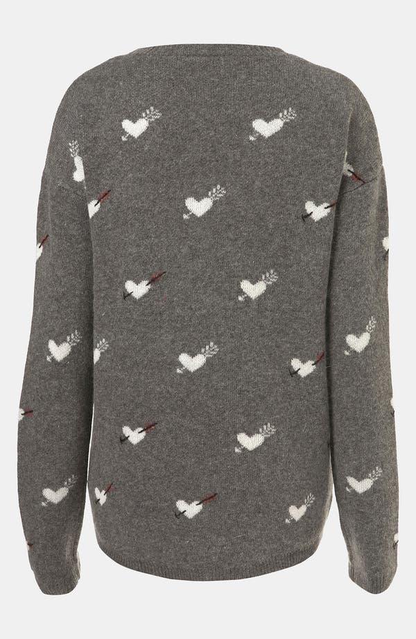 Alternate Image 2  - Topshop 'Hearts & Arrows' Sweater