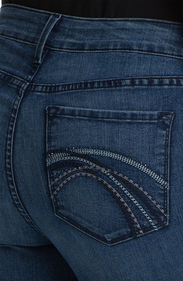 Alternate Image 3  - NYDJ 'Barbara' Stitch Pocket Bootcut Jeans (Petite)